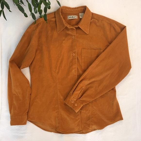 5b074d3fd97 L.L. Bean Tops - LL Bean. Gold Corduroy Button Down Shirt!